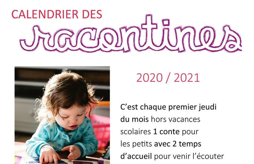 Calendrier des Racontines au Phare de l'Ill - 2020-2021